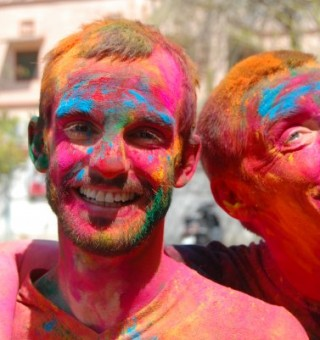 Holi in India with Neil and Jordi