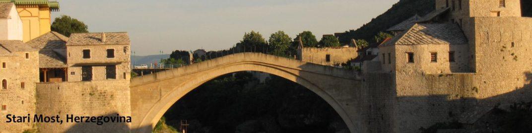 Herzegovina - Stari Most Bridge sunset