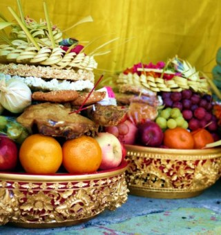 Bali fruit offering