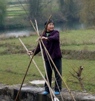 woman in rural china