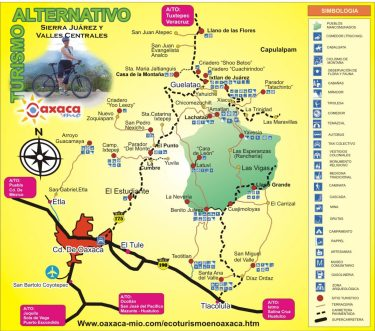 Ecotourism trekking and cabañas options around oaxaca