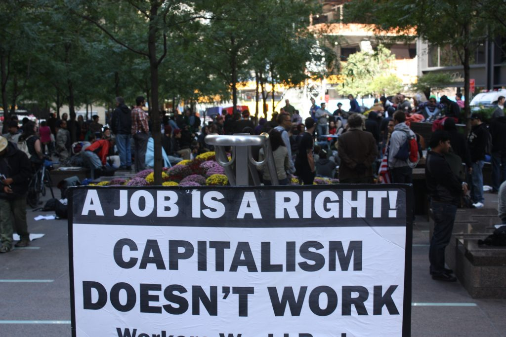 capitalism doesn't work sign