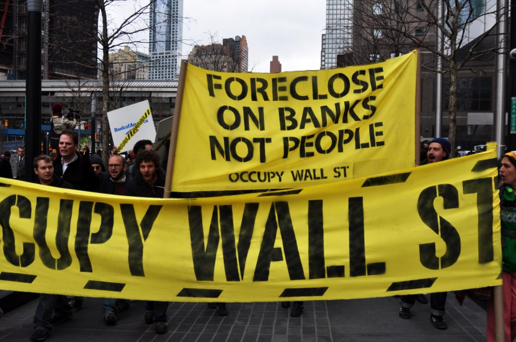 foreclose on banks not people sign