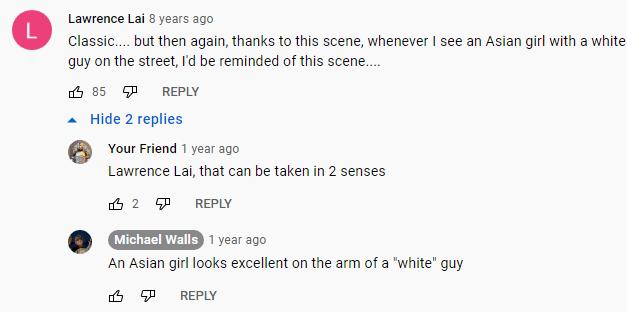 Youtube comments fetishizing Asian women