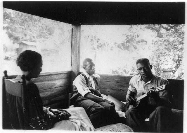 Zora Neale Hurston with two men
