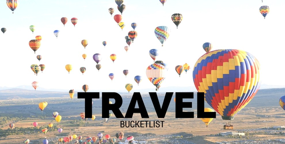 Travel bucket list - Bekah Molony