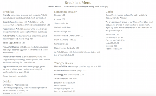 alittlebitofb.com | Airfield Estate Farm & Cafe Breakfast Menu | Bekah Molony
