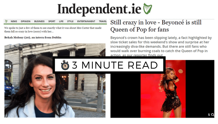 3MinRead | Moment of Beyoncé Fame