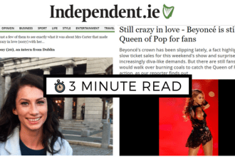 alittlebitofb.com - 3 Minute Read - Moment of Beyonce Fame -Bekah Molony
