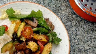 Salad with a balsamic vinegar dressing