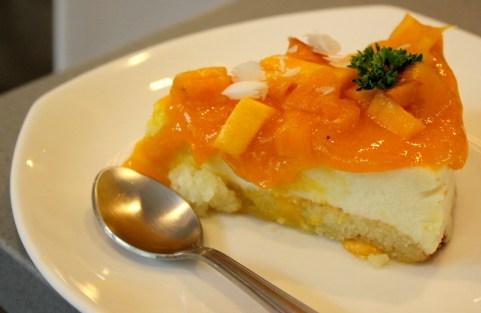 Mango Greek Yogurt Cheesecake
