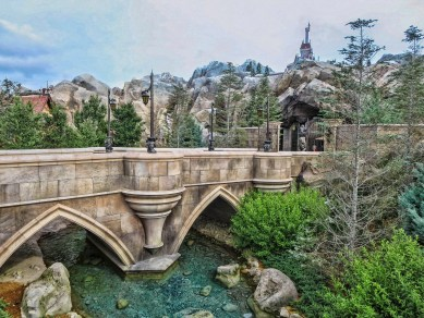 Be Our Guest Restaurant - The bridge to the Beast's Castle.