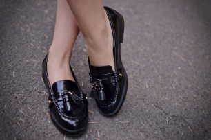 Zara tassel loafers blogger