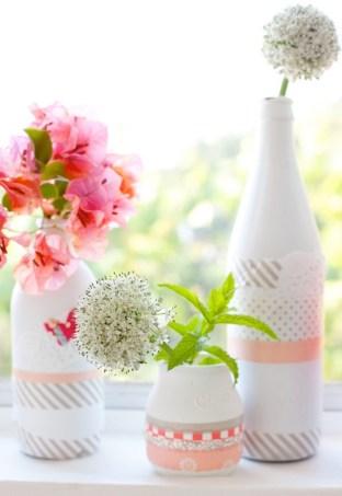 Washi-Tape-Wedding-Ideas-Vases