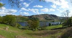 Rydal water with Loughrigg behind