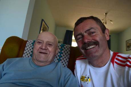 Could be my dad's first ever selfie, after 91 and a half years !