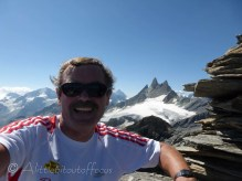 With the Aiguilles Rouges behind.