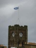 Church flying the Scottish flag