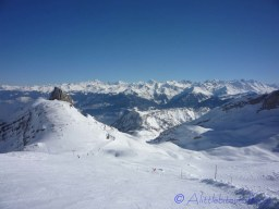 View down the piste