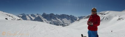 View from the Pointe de Vouasson (3490m)