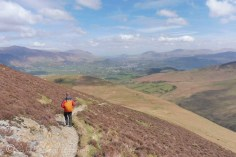 17 Descending with Keswick in the distance