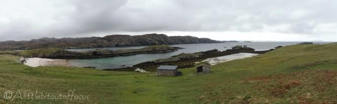 1 Our landing beach and Ranger hut on Handa