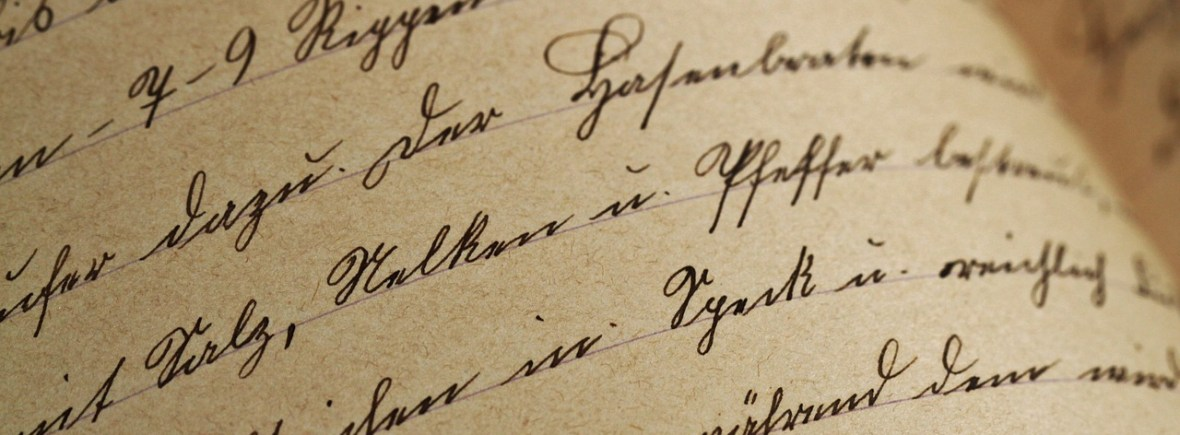Beautiful handwriting on old paper