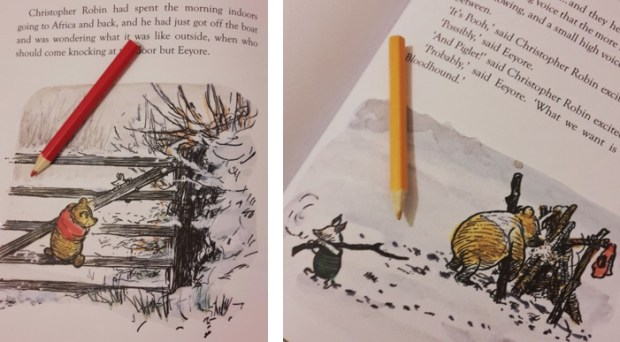 5 Winnie-the-Pooh quotes that will make you think, think, think about thinking. Red and yellow
