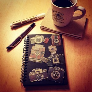 DIY Friday – Unique notebooks for bookworms and stationery-lovers. Old cameras notebook.