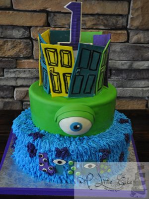 Monsters Inc First Birthday Cake A Little Cake