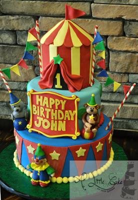 1st Birthday Circus Themed Cake