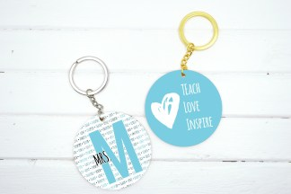 teacher keychain teach love inspire