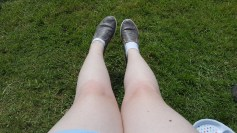Trying to add some colour to pale pale legs!
