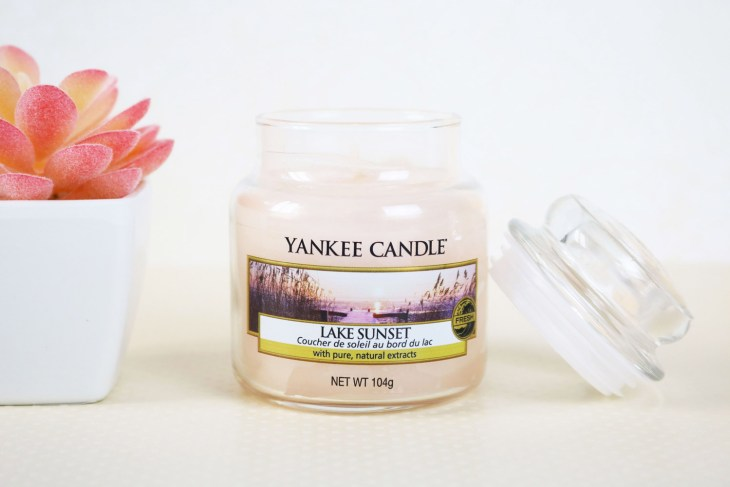 Bougie Yankee Candle Lake sunset