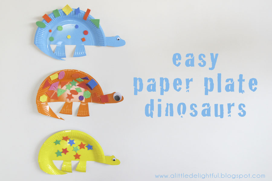 ... paper plate dinosaurs. This is another craft from our very awesome craft book Usborne Little Childrenu0027s Book of Things to Do that a lovely friend gave ...  sc 1 st  A Little Delightful & craft paper plate dinosaurs - a little delightful
