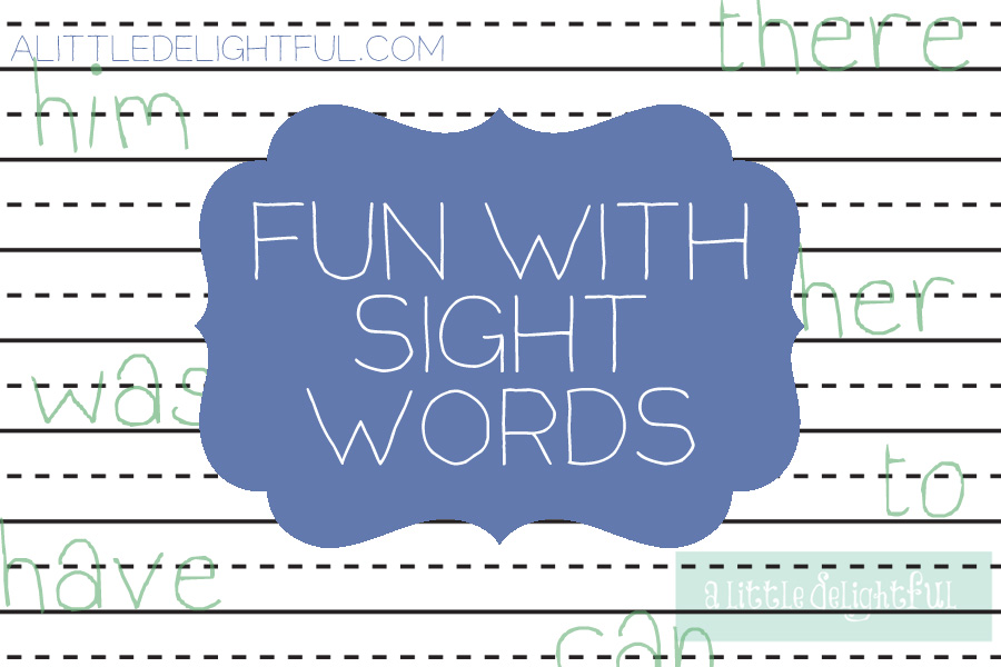 sight word fun and printable sight word flashcards
