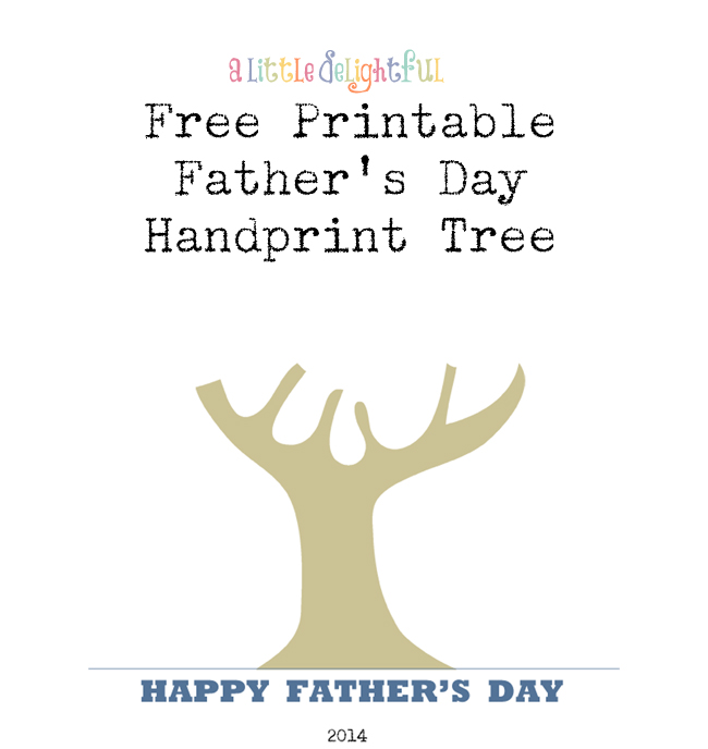 {printable} Father's Day handprint tree