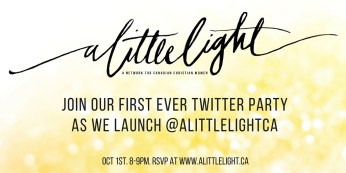 twitter launch party for a little light community
