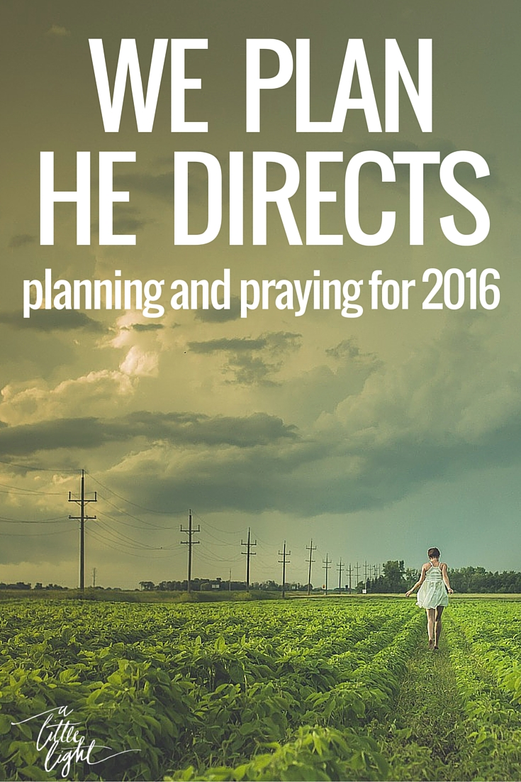 Prayers and thoughts to reflect on while we ask God to prepare us for 2016. Let's follow His will as we pursue our dreams and passions.