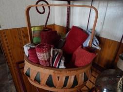 Basket of towels in the corner