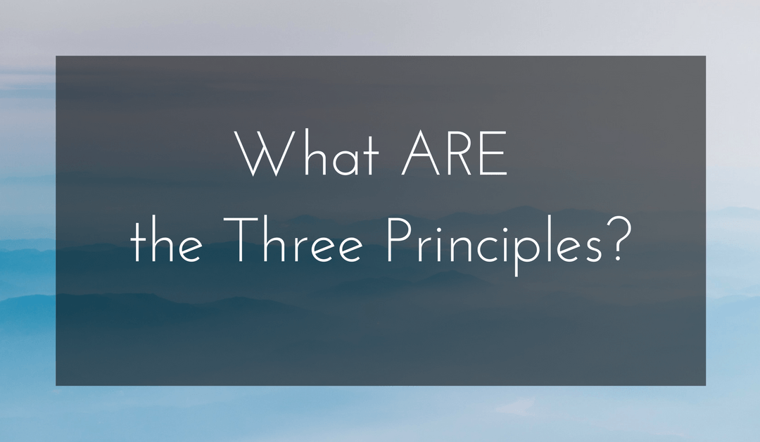 What ARE the Three Principles?