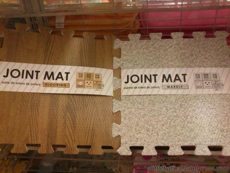 Joint mats.