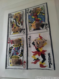 Play poker with teddy poker cards.