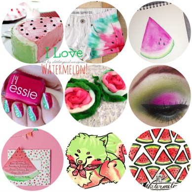 I love watermelon! Craft, art, makeup & food