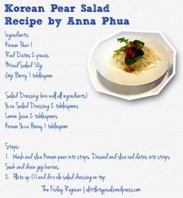 Korean Pear Salad Recipe TFR