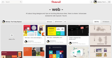 Belindq | The Friday Rejoicer's Pinterest Board of Webspiration