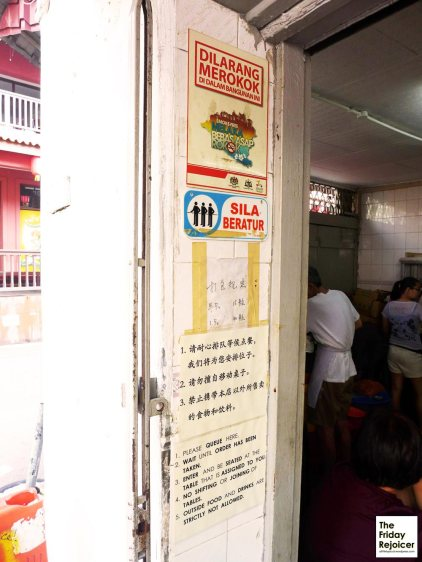 Rules for eating Chop Chung Wah Chicken Rice. Photo by The Friday Rejoicer.