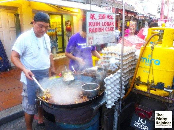 Kuih Lobak Radish along Jonker Street. Photo by The Friday Rejoicer.