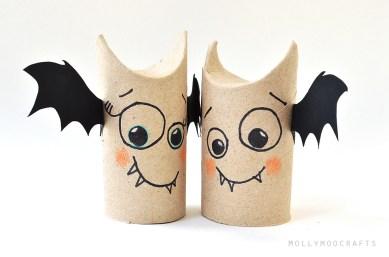 toilet roll bat friends diy
