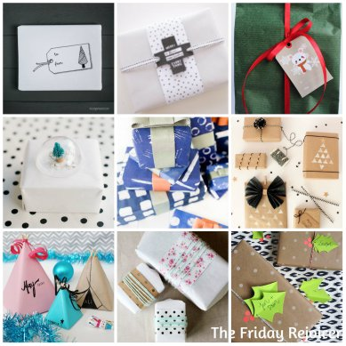 Simple gift wrap ideas compiled by The Friday Rejoicer
